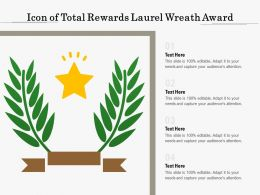 Icon Of Total Rewards Laurel Wreath Award