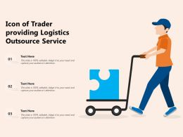 Icon Of Trader Providing Logistics Outsource Service