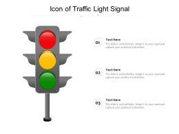 Icon Of Traffic Light Signal