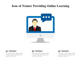 Icon Of Trainer Providing Online Learning