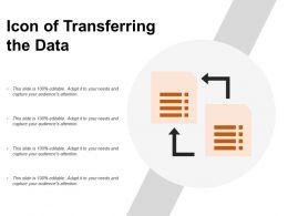 Icon Of Transferring The Data