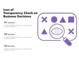 Icon Of Transparency Check On Business Decisions