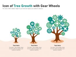 Icon Of Tree Growth With Gear Wheels