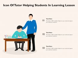 Icon Of Tutor Helping Student In Learning Lesson