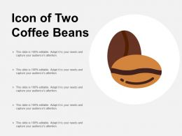 Icon Of Two Coffee Beans