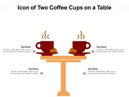 Icon Of Two Coffee Cups On A Table