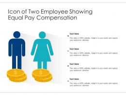 Icon Of Two Employee Showing Equal Pay Compensation