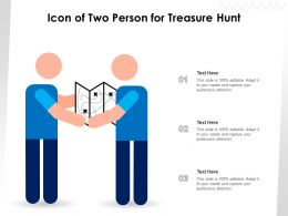 Icon Of Two Person For Treasure Hunt