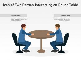 Icon Of Two Person Interacting On Round Table