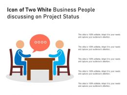 Icon Of Two White Business People Discussing On Project Status