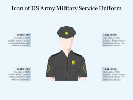 Icon Of US Army Military Service Uniform