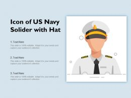 Icon Of US Navy Solider With Hat