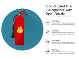 Icon Of Used Fire Extinguisher With Open Nozzle