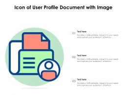 Icon Of User Profile Document With Image