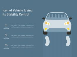 Icon Of Vehicle Losing Its Stability Control