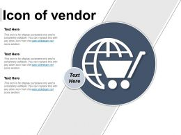 Icon Of Vendor Powerpoint Slide Background