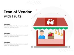 Icon Of Vendor With Fruits