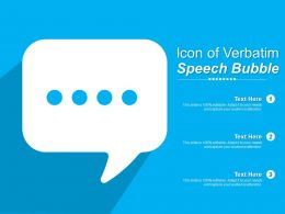 Icon Of Verbatim Speech Bubble