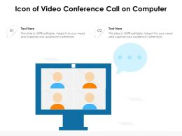 Icon Of Video Conference Call On Computer
