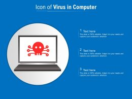 Icon Of Virus In Computer