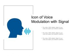 Icon Of Voice Modulation With Signal