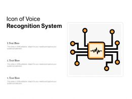 Icon Of Voice Recognition System