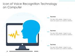 Icon Of Voice Recognition Technology On Computer