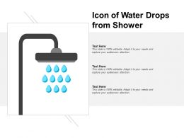 Icon Of Water Drops From Shower