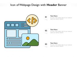 Icon Of Webpage Design With Header Banner