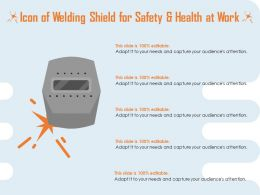 Icon Of Welding Shield For Safety And Health At Work