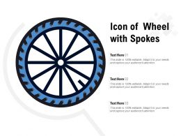 Icon Of Wheel With Spokes