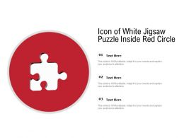 Icon Of White Jigsaw Puzzle Inside Red Circle