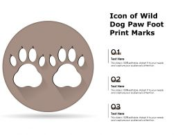 Icon Of Wild Dog Paw Foot Print Marks