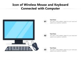 Icon Of Wireless Mouse And Keyboard Connected With Computer