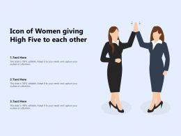Icon Of Women Giving High Five To Each Other