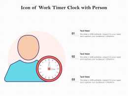 Icon Of Work Timer Clock With Person