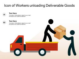Icon Of Workers Unloading Deliverable Goods