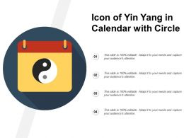 Icon Of Yin Yang In Calendar With Circle