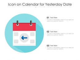 Icon On Calendar For Yesterday Date