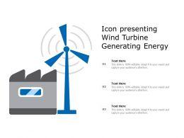 Icon Presenting Wind Turbine Generating Energy