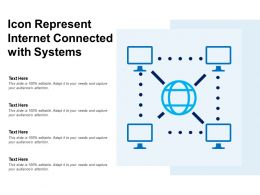 Icon Represent Internet Connected With Systems