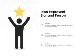 Icon Represent Star And Person
