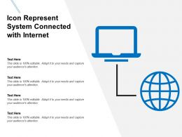 Icon Represent System Connected With Internet