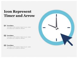 Icon Represent Timer And Arrow