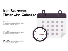 Icon Represent Timer With Calendar