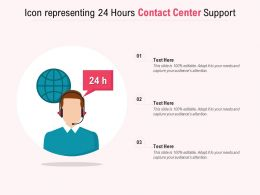 Icon Representing 24 Hours Contact Center Support