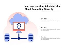 Icon Representing Administration Cloud Computing Security