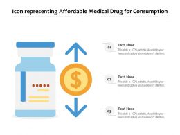 Icon Representing Affordable Medical Drug For Consumption