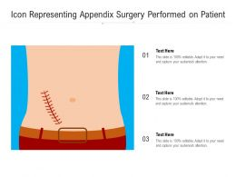 Icon Representing Appendix Surgery Performed On Patient
