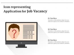 Icon Representing Application For Job Vacancy